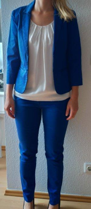 Hallhuber Pantalon strech bleu fluo-bleu