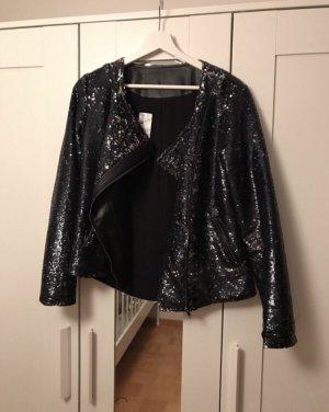 Stylische Blazer Jacke mit Pailletten