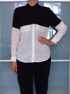 Stylische Bluse im Colour Block Design Gr. 38
