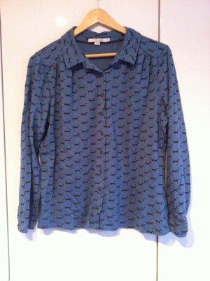 Stylische Bluse von Boden mit süßem Dackelmotiv, Gr. 42 (UK 16)