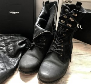 Diesel Boots black-gold-colored