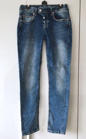 Stylische Boyfriend Jeans im Used Look von ATT / Amor, Trust & Truth Gr. 36