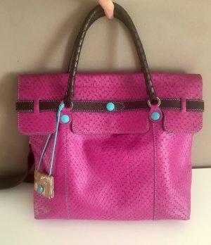 Stylische Businesstasche von GABS in pink/türkis/dunkelbraun