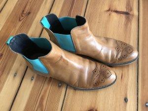 Chelsea Boot cognac-turquoise