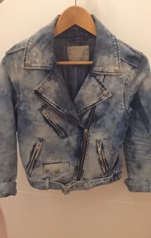 Stylische Diesel Denim-Bikerjacke im used look in Gr. S