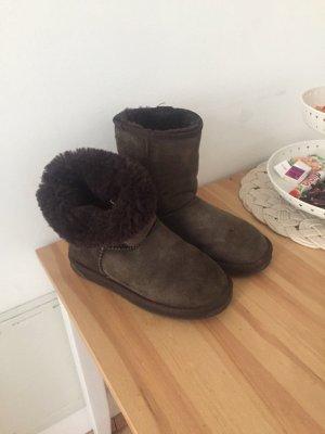 Stylische Emu Ugg Boots Original, grau/braun