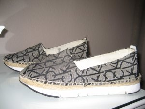 Calvin Klein Jeans Slip-on Shoes black-white textile fiber