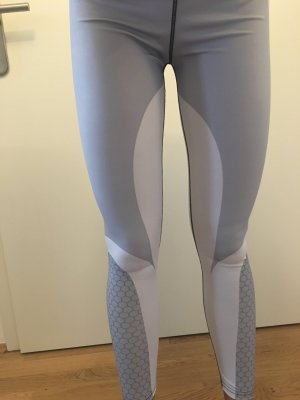 Leggings blanco-gris claro