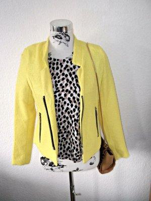 stylische gelbe Jacke mit Reißverschluss NEU