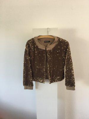 Stylische goldene Pailletenjacke / Blouson