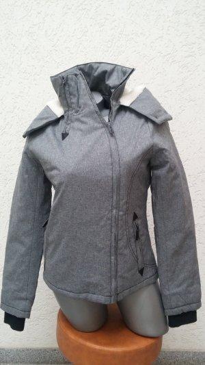 Stylische graue Winterjacke von Freshmade, Gr. S