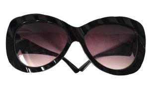 stylische große Sonnenbrille 100% UVP schwarz stabil