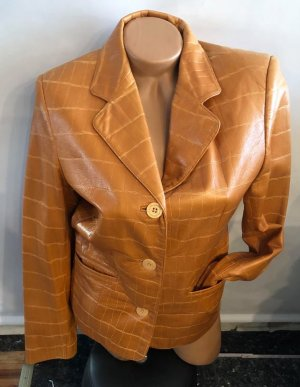 Guess Leather Jacket sand brown-light orange leather