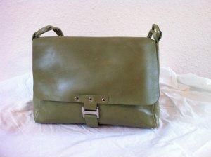 Stylische Handtasche aus Leder in hellgrün NEU!