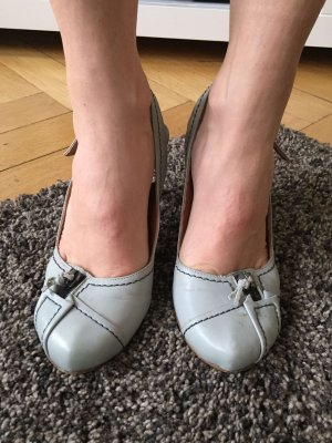 Harlot Pumps silver-colored-blue leather