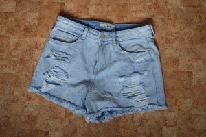 New Look Petite Shorts azure cotton