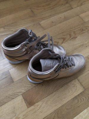 Stylische High-Sneaker von Reebok Leder metallic