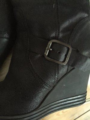 Stylische HOGAN-Stiefel mit Plateauabsatz / Vintage-Leder