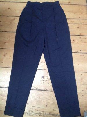 Strenesse Pantalone peg-top blu scuro Lana vergine
