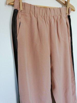 Zara Pantalone da ginnastica nero-rosa antico