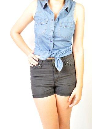 Stylische Jeansbluse Jeanshemd Vintage Stil