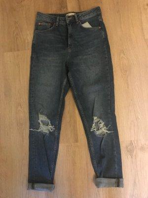 Gina Tricot Jeans a vita alta blu scuro