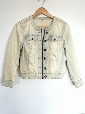 Only Veste en jean bleu clair-beige clair