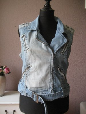 Denim Vest azure cotton