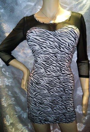 Stylische Kleid von MELROSE in gr 40 Schwarz Weiss