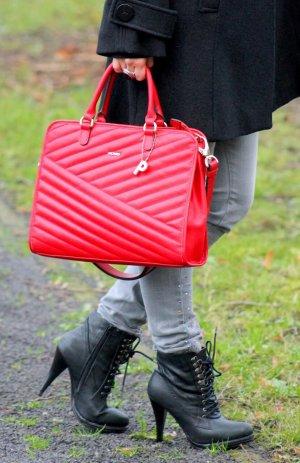 Stylische Leder Handtasche Ledertasche rot von Picard