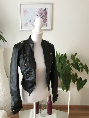 Seven Sisters Faux Leather Jacket black