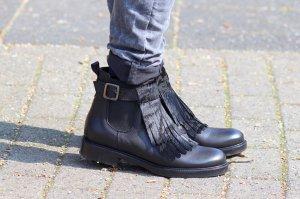 Stylische Lederschuhe Stiefeletten schwarz von Konstantin Starke Gr. 37