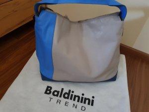 Stylische Ledertasche Original Baldinini Neu mit Etikett taupe blau