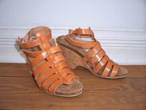 Jonny's Sandalo con plateau color cammello Pelle