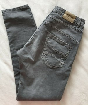 Stylische PLEASE P78 Boyfriend Hose Grau Destroyed Look Gr.M