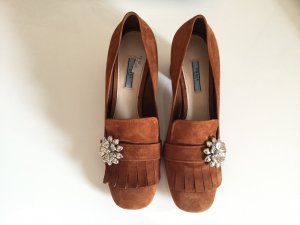 Stylische Prada Pumps in Cognacbraun