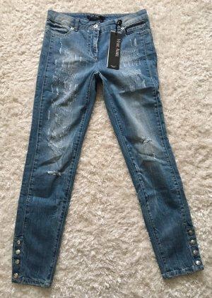 Stylische Röhren Jeans im Used Look von Marc Aurel Gr. 36 Neu mit Etikett
