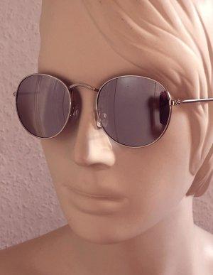 Occhiale da sole rotondo argento-grigio
