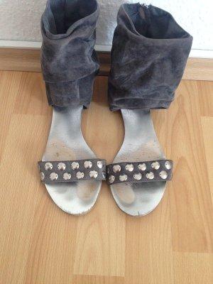 Stylische Sandaletten, hellgrau/silber, Gr 39