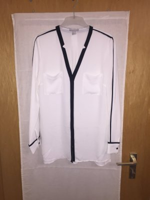 Stylische schwarz-weiß Bluse