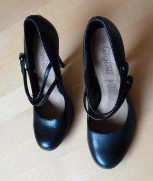 Stylische schwarze Echtleder High Heel Pumps von New Look in Gr. 39