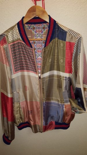 Stylische Seidenbomberjacke zum wenden, Muchogusto, gr.m, nie getragen
