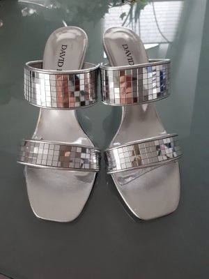 David Braun High Heel Sandal light grey