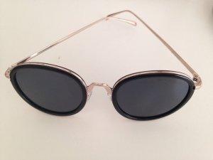 Stylische Sonnenbrille Gold schwarz