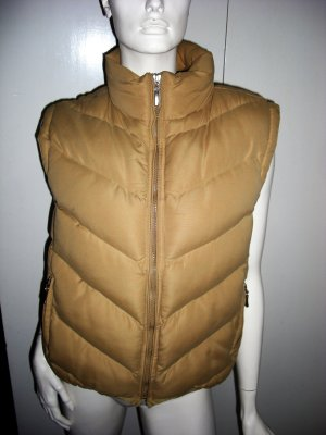 Quilted Gilet sand brown polyester