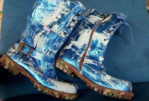 Stylische Stiefel von Roberto Cavalli Gr. 36 Leder