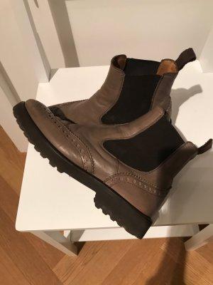Chelsea laarzen grijs-bruin Leer