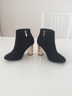 Atmosphere Zipper Booties black-rose-gold-coloured
