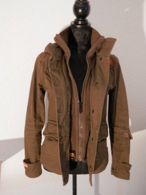 stylische SUPERDRY BLACK LABEL Vintage Military Jacke Army Parka Blogger Fashio