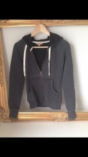 Stylische Sweatshirt Jacke in Grau